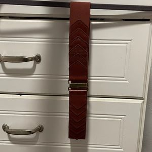 LOFT elastic & leather belt
